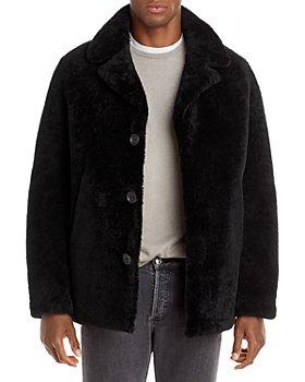 Yves Salomon - Single Breasted Shearling Jacket