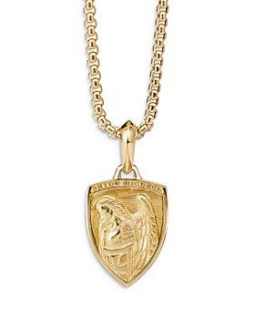 David Yurman - St. Michael Amulet in 18K Yellow Gold