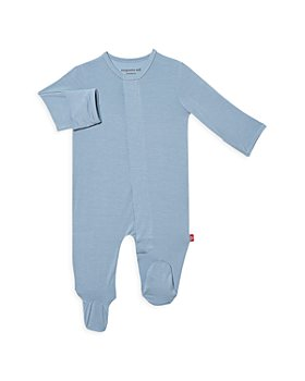 MAGNETIC ME - Boys' Cool Blue Solid Footie - Baby