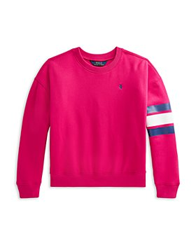 Ralph Lauren - Girls' Collegiate Sweatshirt - Little Kid, Big Kid