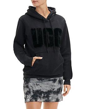UGG® - Rey Fuzzy Logo Hoodie
