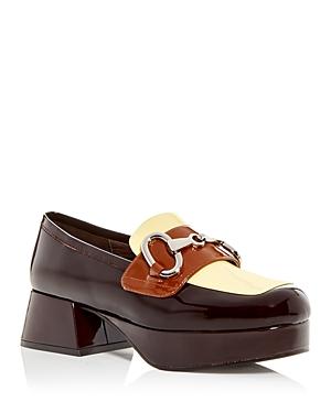 Women's Student Platform Block Heel Loafers