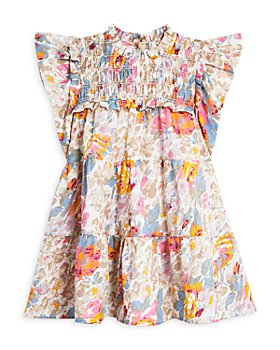 Sea - Girls' Ines Short Sleeve Smocked Dress - Little Kid, Big Kid