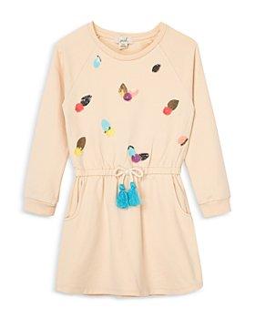Peek Kids - Girls' Pom & Sequins Dress - Little Kid, Big Kid
