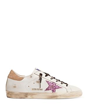 Golden Goose Women's Super-Star Glitter Star Low Top Sneakers