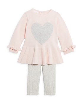 Bloomie's Baby - Girls' Sweater Heart Tunic & Ribbed Sweater Leggings Set, Baby - 100% Exclusive