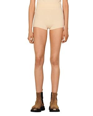 Sandro Knit Wool Shorts