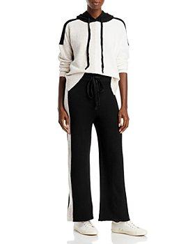 AQUA - AQUA Colorblock Hoodie Sweater & Racing Stripe Knit Pants - 100% Exclusive