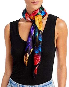 Echo - Floral Silk Scarf