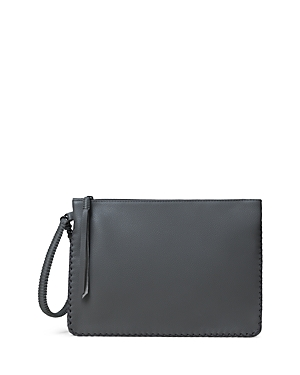 Iconic Maxi Leather Pochette Crossbody
