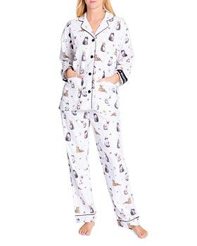 PJ Salvage - Cotton Printed Flannel Pajamas & Headband Set