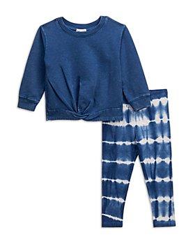 Splendid - Girls' Twist Sweatshirt & Tiger Tie Dye Leggings Set - Baby