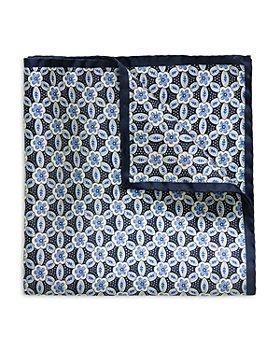 Eton - Silk Geometric Floral Pocket Square