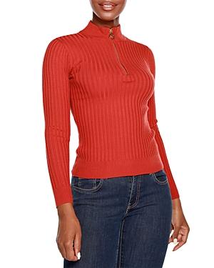 Half Zip Mock Neck Sweater