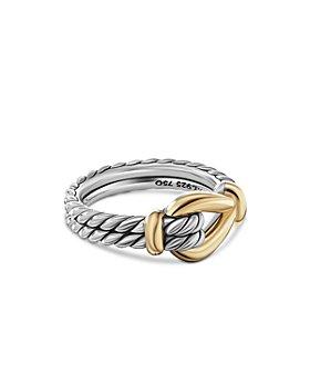 David Yurman - 18K Yellow Gold & Sterling Silver Thoroughbred Loop Ring with 18K Yellow Gold