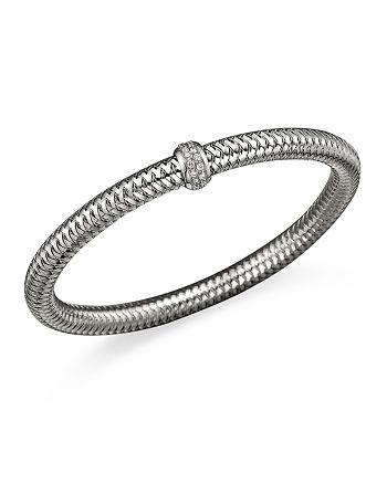 Roberto Coin - 18K White Gold Primavera Stretch Bracelet with Diamonds