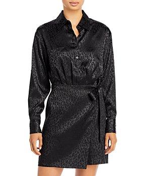 AQUA - Jacquard Long Sleeved Shirt Dress - 100% Exclusive
