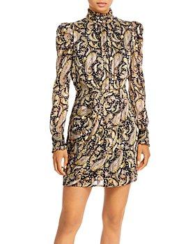 AQUA - Puffed Shoulder Mini Dress - 100% Exclusive