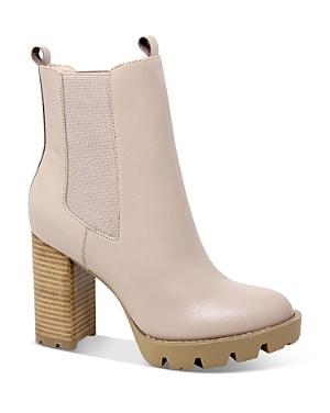 Women's Gambit Leather Pull On Platform Booties