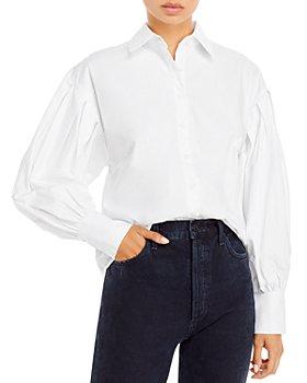 AQUA - Balloon Sleeve Button Front Shirt