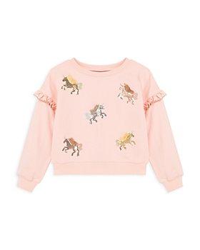Peek Kids - Girls' Sequin Unicorn Cotton Sweatshirt - Little Kid, Big Kid