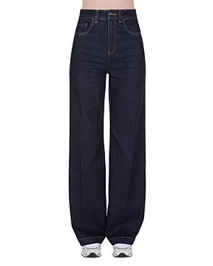 Wide Leg Jeans in Solid Dark