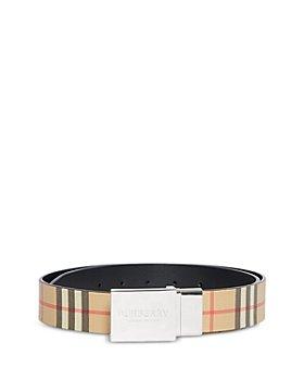 Burberry - Men's Vintage Check Reversible Plaque Buckle Belt