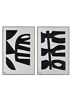 """Ren-Wil - Rockwell Abstract Symbols Canvas Wall Art, 24"""" x 36"""", Set of 2"""