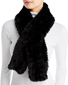 Surell - Faux Fur Knit Pull Through Scarf - 100% Exclusive