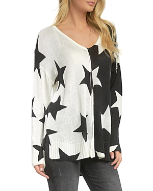 Mixed Star Print Sweater