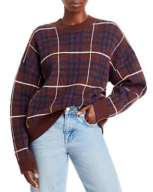Plaid Knit Sweater