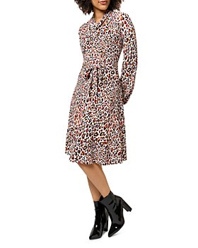 Leota - Mallory Cowl Leopard Print Dress