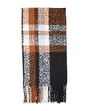 Boucle Plaid Knit Scarf
