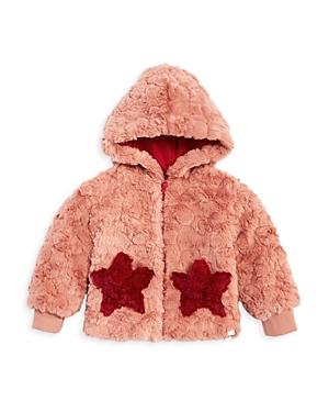 Sovereign Code Girls' Kirby Teddy Fleece Star Hooded Jacket - Baby