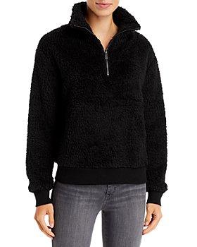 Marc New York - Quarter Zip Faux Fur Pullover
