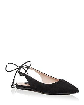 AQUA - Women's Tie Slingback Ballet Flats - 100% Exclusive