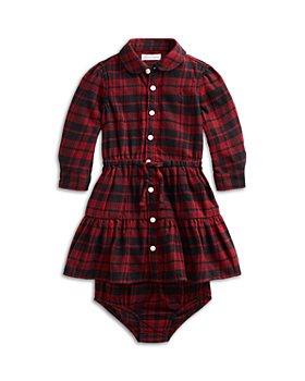 Ralph Lauren - Girls' Plaid Cotton Twill Shirtdress & Bloomer Set - Baby