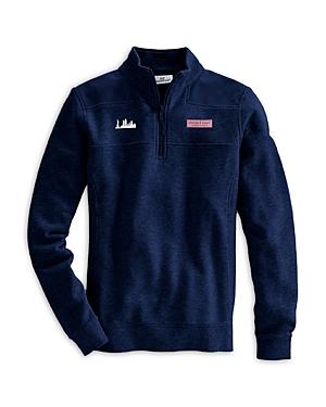 Vineyard Vines New York City Skyline Collegiate Shep Shirt In Vineyard Navy