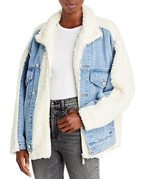 BLANKNYC - Faux Sherpa Denim Jacket