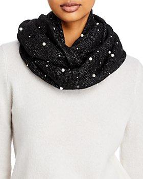 AQUA - Embellished Knit Loop Scarf - 100% Exclusive