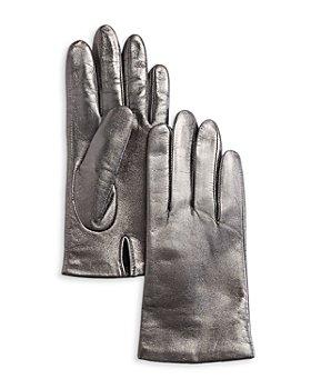 AQUA - Metallic Leather Tech Gloves - 100% Exclusive