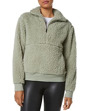 Performance Quarter Zip Faux Fur Pullover