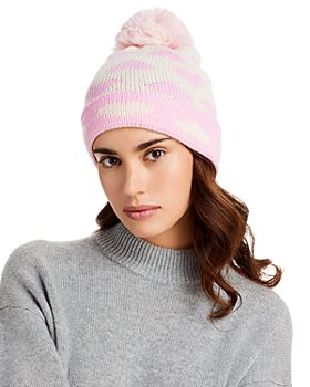 AQUA - Heart Jacquard Cuffed Hat - 100% Exclusive