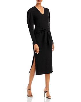 AQUA - Ruffle Sleeve Midi Dress - 100% Exclusive