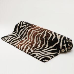 Abyss Zebra Print Bath Rug