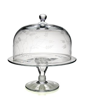 "William Yeoward Crystal - William Yeoward Country ""Wisteria"" Cake Dome & Stand"