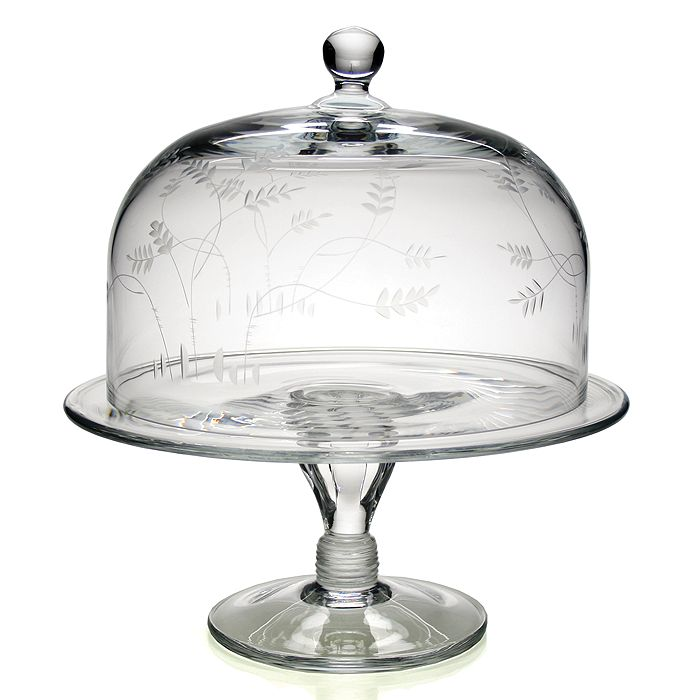 """William Yeoward Crystal - William Yeoward Country """"Wisteria"""" Cake Dome & Stand"""