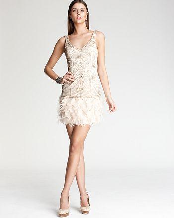 Sue Wong - Feather Hem Dress