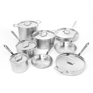 All Clad d5 Stainless Brushed 14-Piece Cookware Set