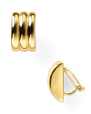 Lauren Ralph Lauren Ridged Clip-On Earrings